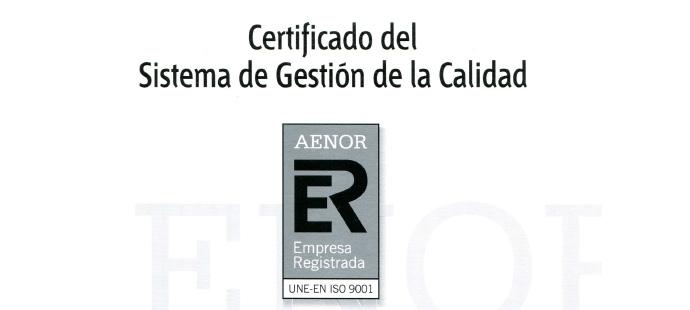 Segurservi, S.A. logra el Certificado del Sistema de Gestión de la Calidad de AENOR.