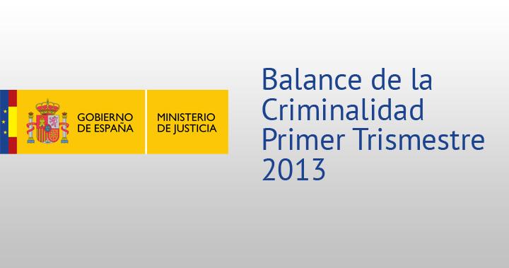 Balance de la Criminalidad Primer Trismestre 2013